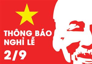CS-Solution thông báo lịch nghỉ lễ Quốc Khánh 02/09 năm 2020